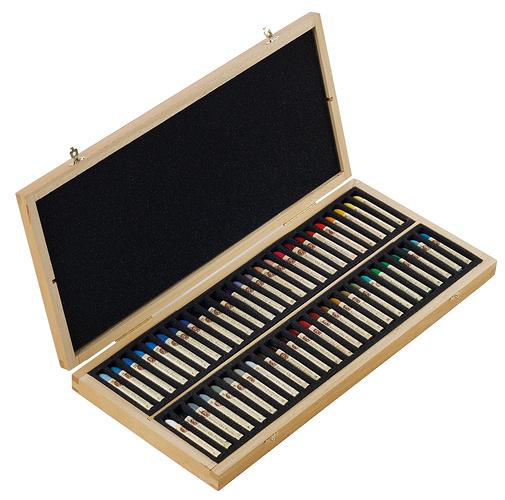 Oil pastels - Wooden Sets n132518-50pl