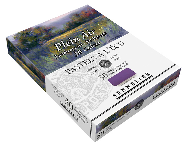 Etui and box of 1/2 pastels n132284-pleinairpaysage